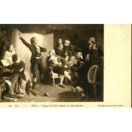 """CARTE POSTALE du Musée du Louvre (Paris) tableau de Pils, """"Rouget de l'Isle chantant la ..."""