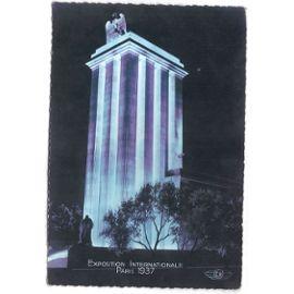 """Carte postale rare """" PARIS """" année 1937 couleur - pavillon de l'allemagne - N° 1002 - édition ..."""