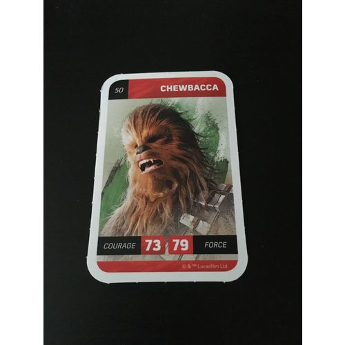 Carte Star Wars Solo Leclerc 2018 Numéro 50 Chewbacca