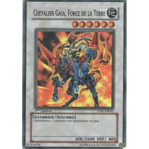 Carte Yu Gi Oh Rare Prix.Carte Yu Gi Oh Chevalier Gaia Force De La Terre Super Rare 5ds1 Fr042