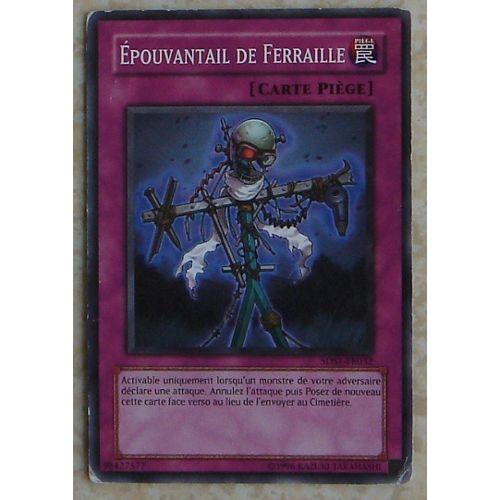 Carte Yu Gi Oh Piege.Carte Yu Gi Oh Epouvantail De Ferraille 5ds1 Fr032 Carte Piege