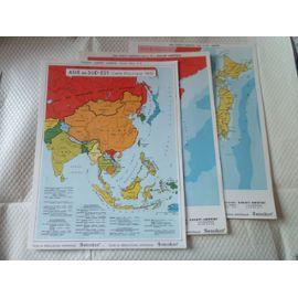 Cartes De Lasie Du Sud Est Et Japon Années 1960 Rakuten