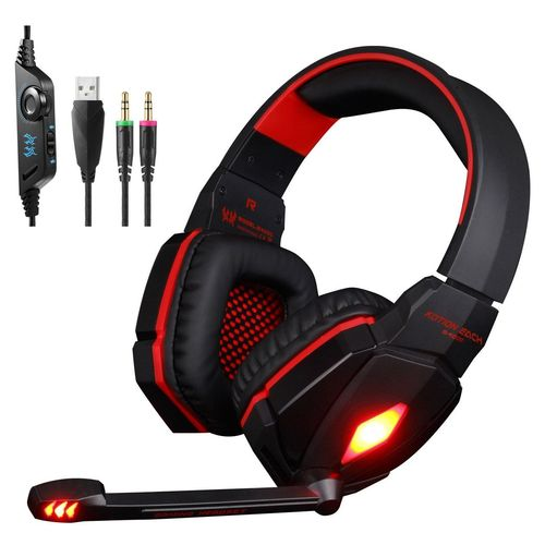 led One 5mm Lampe3 Surround Casque Gaming Gamer Micro Xbox Pc Avec Ps4 Audio SwitchStéréo R53AL4jq