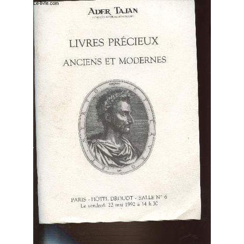 Catalogue De Vente Aux Encheres Livres Precieux Anciens Et