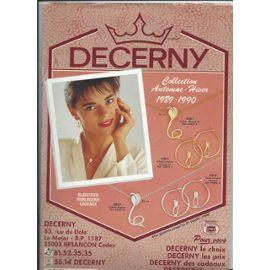 meilleure vente Nouvelles Arrivées Beau design catalogue decerny collection automne hiver 1989 1990 bijouterie, horlogerie  cadeaux 1989