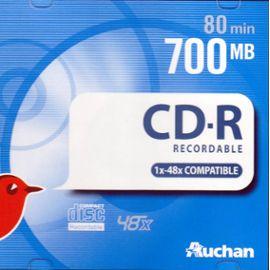 Cd R Enregistrables 700mb 80 Min Auchan
