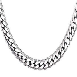 collier homme maille serpent
