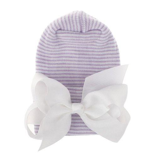 Mignon Bébé Enfant Garçons Filles Coton À Rayures Chapeau Cap Bonnet écharpe Chaîne Set