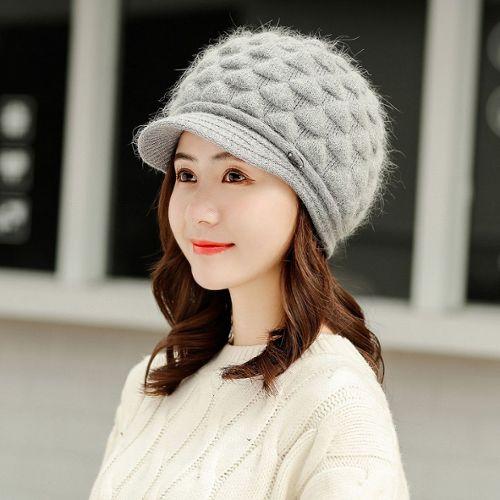 À la mode unisexe Big Eyes Lapin rose animal chapeau d/'hiver avec pompon