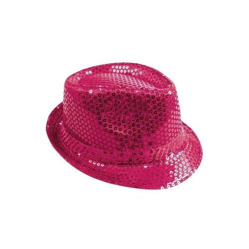 sélectionner pour dernier Livraison gratuite dans le monde entier grand Prix Chapeau tissu sequins borsalino rose