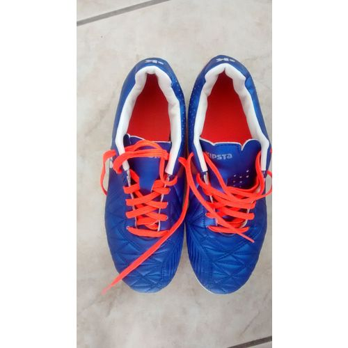low price release date: official Chaussures crampons foot kipsta decathlon pointure 35 bleues et orange