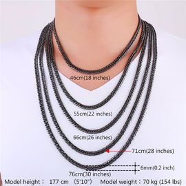 taille pour collier homme