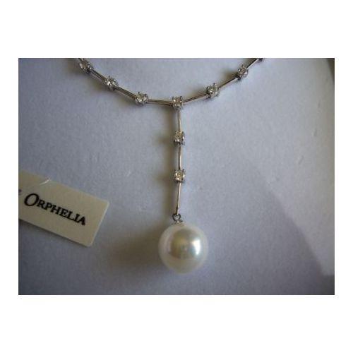 collier perle et zirconium