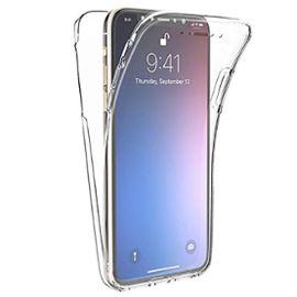 Coque Silicone Transparente AVANT ARRIERE 360° Film Verre Trempé HD pour Apple Iphone 7 Plus