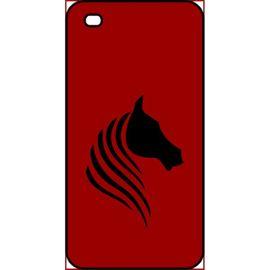 coque apple iphone 4s cheval fond bordeaux 1228135859 ML