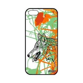 coque apple iphone 5 5s se silicone loup garcon pour husky tribal nature dessin 1140870314 ML