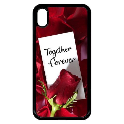 coque iphone xr avec rose rouge