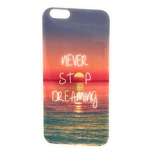 coque arriere silicone coucher de soleil sur la mer pour telephone apple iphone 6 plus 6s plus 5 5 pouces etui case never stop dreaming narretez jamais de rever en silicone de protection contre 1216667899 L