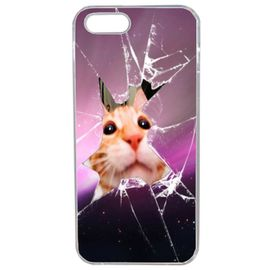 coque chat vitre cassee compatible iphone 5s transparent 1223073302 ML