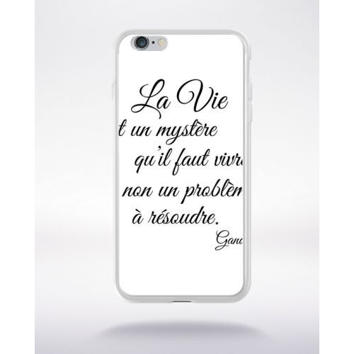 coque iphone 6 transparente phrase