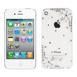coque de luxe a strass pour apple iphone 4 4s transparent motif fleurs 966263810 ML