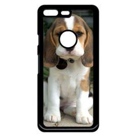 Coque Pour Smartphone Chien Mignon Compatible Avec Google Pixel Plastique Bord Noir