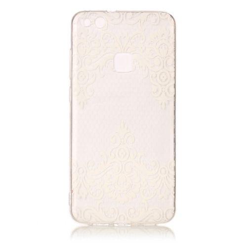 Coque Huawei P10 Lite , LH Diagonal Dentelle Transparent Silicone Doux TPU  Case Cover Housse Etui pour Huawei P10 Lite