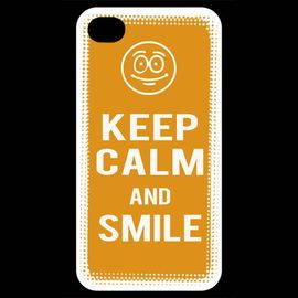 coque iphone 4 iphone 4s keep calm smile orange 964804912 ML