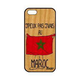 coque iphone 5 5s se bois silicone j 39 peux pas j 39 vais au maroc noir housse apple iphone 5 iphone 5s iphone se 1161346383 ML