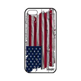 Coque en silicone Apple iPhone 5 5S SE drapeau etats unis usa americain football