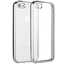 coque iphone 5 5s se welkoo coque iphone 5s en silicone housse iphone 5 en silicone couleur transparente contour argent souple et flexible compatible avec l iphone 5 5s et se 1199760343 ML
