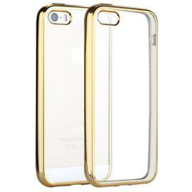 coque iphone 5 5s se welkoo coque iphone 5s en silicone housse iphone 5 en silicone couleur transparente contour dore souple et flexible compatible avec l iphone 5 5s et se 1200693910 ML