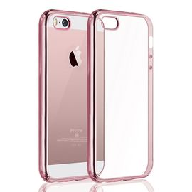 coque iphone 5 5s se welkoo coque iphone 5s en silicone housse iphone 5 en silicone couleur transparente contour rose or souple et flexible compatible avec l iphone 5 5s et se 1199760350 ML