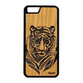coque iphone 6 6s plus en bois silicone tigre noir telephone fauve animaux apple iphone 6 plus iphone 6s plus 1146858201 ML