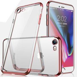 coque iphone 6 6s welkoo coque iphone 6 en silicone housse iphone 6s en silicone couleur transparente contour partiellement rose or souple et flexible compatible avec l iphone 6 et 6s 1199953923 ML