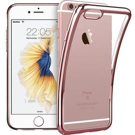 coque iphone 6 plus 6s plus welkoo coque iphone 6 plus en silicone housse iphone 6s plus en silicone couleur transparente contour rose or souple et flexible compatible avec l iphone 6 plus et 6s plus 1199760380 ML