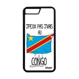 coque iphone 8 plus silicone j 39 peux pas j 39 vais au congo rdc kinshasa etui apple iphone 8 plus 1161353293 ML