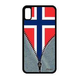 coque iphone xr silicone drapeau norvege norvegien foot rigide jeans etui apple iphone xr 1222933840 ML