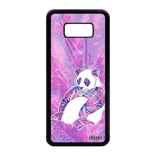 Coque Panda Pour Samsung Galaxy S8 Plus Silicone Metal Fille Tribal Dessin Swag