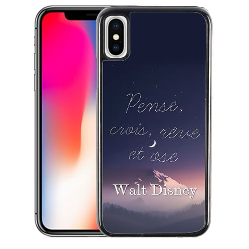 timeless design good texture best choice Coque pour iPhone XS MAX disney citation pense crois reve