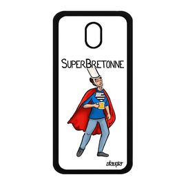 Coque Pour J3 2017 Silicone Super Bretonne 4g Dessin Drole Comique Texte Housse Telephone Bretagne Comics Blanc Heros Samsung Galaxy Rakuten