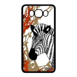 Coque Samsung J7 2016 silicone zebre tribal dessin noir swag animal kenya Samsung Galaxy J7 2016
