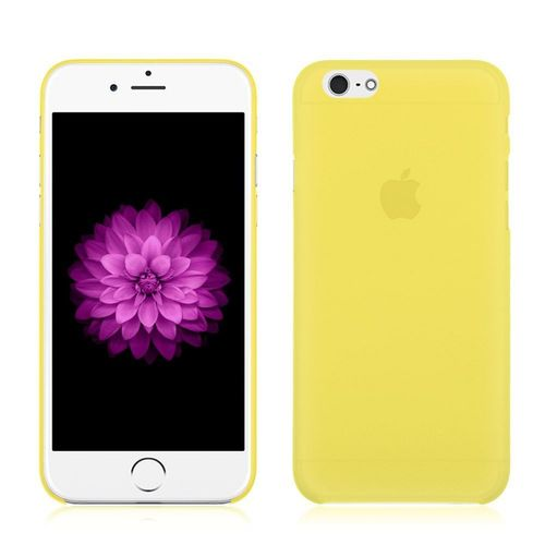 iphone 6 coque silicone jaune