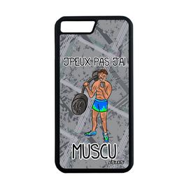 coque silicone iphone 7 plus j 39 peux pas j 39 ai musculation texte muscu gris apple iphone 7 plus 1161365410 ML