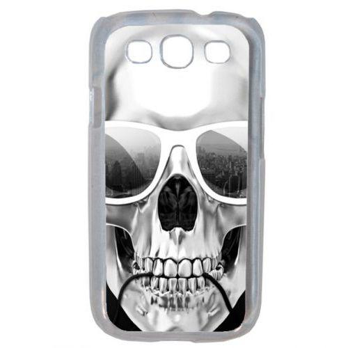 Coque Pour Smartphone Tete De Mort Swag Casque De Musique Compatible Avec Samsung I8190 Galaxy S Iii Mini Plastique Bord Transparent