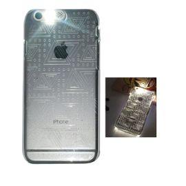 coque transparente rigide effet lumineux flash led pour iphone 6 iphone 6s plus iphone 6s plus 5 5 triangles 1049845353 ML