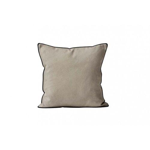 Housse de coussin brodé 1 CRÈME polyester//lin mélangé 45 CM CHIEN IMAGE