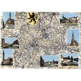 Carte Postale Nord Pas-de-Calais LILLE ROUBAIX TOURCOING architecture du Nord