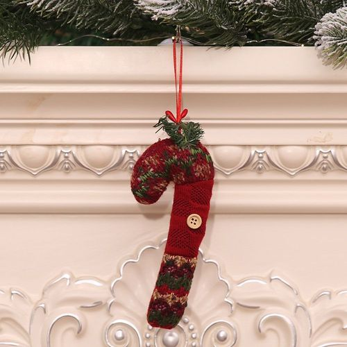 Nouveau Noël Luxe Chien Rouge /& Blanc Stocking Present /& Sac Cadeau Pour le Père Noël