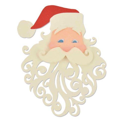 Pochoir Pere Noel.Die Et Pochoir D Emboss Thinlits Sizzix Père Noël Sizzix